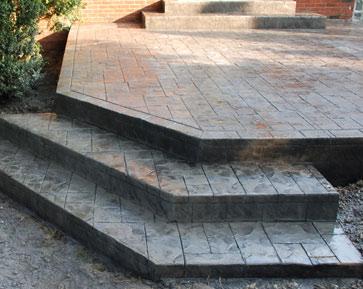 stamped concrete steps gray small stamped concrete porch mi steps decorative
