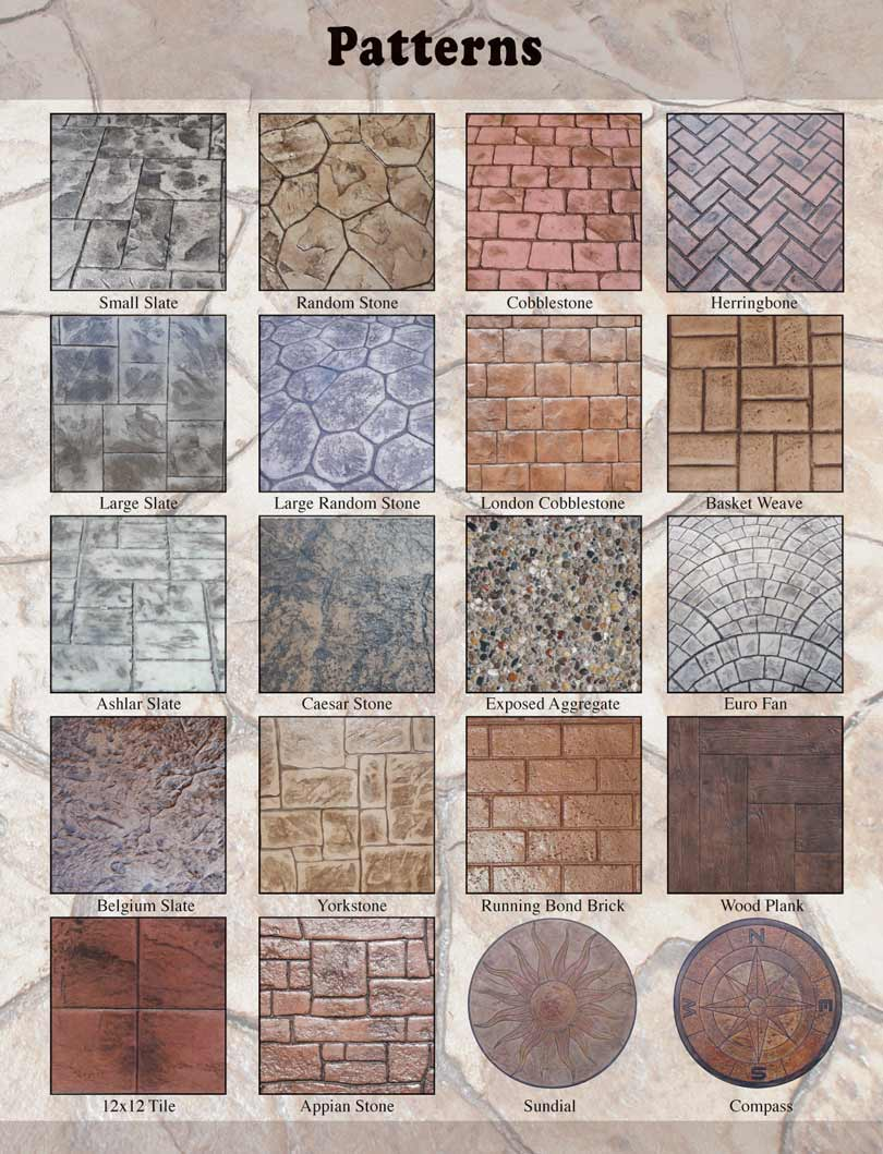 What Is The Difference Between Stamped Concrete And Stained Concrete stamped concrete patterns mi | decorative concrete patterns